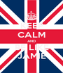 KEEP CALM AND BE LIKE JAMIE - Personalised Poster A1 size