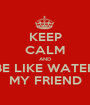 KEEP CALM AND BE LIKE WATER MY FRIEND - Personalised Poster A1 size