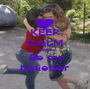 KEEP CALM AND   Be my  belieber - Personalised Poster A1 size