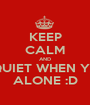 KEEP CALM AND BE QUIET WHEN YOUR ALONE :D - Personalised Poster A1 size