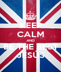 KEEP CALM AND BE THE BEST JESÚS - Personalised Poster A1 size