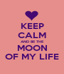 KEEP CALM AND BE THE MOON OF MY LIFE - Personalised Poster A1 size