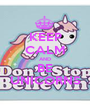 KEEP CALM AND BE UNICORNS - Personalised Poster A1 size