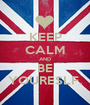 KEEP CALM AND BE YOURESLF. - Personalised Poster A1 size