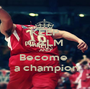 KEEP CALM AND Become   a champion - Personalised Poster A1 size