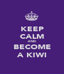 KEEP CALM AND BECOME A KIWI - Personalised Poster A1 size