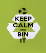 KEEP CALM AND BIN IT - Personalised Poster A1 size