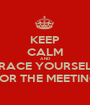 KEEP CALM AND BRACE YOURSELF FOR THE MEETING - Personalised Poster A1 size