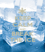 KEEP CALM AND BREAK THE ICE - Personalised Poster A1 size