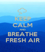 KEEP CALM AND BREATHE FRESH AIR - Personalised Poster A1 size