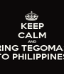 KEEP CALM AND BRING TEGOMASS TO PHILIPPINES - Personalised Poster A1 size