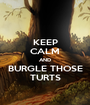 KEEP CALM AND BURGLE THOSE TURTS - Personalised Poster A1 size
