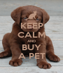 KEEP CALM AND BUY A PET - Personalised Poster A1 size