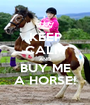 KEEP CALM AND BUY ME A HORSE! - Personalised Poster A1 size
