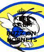 KEEP CALM AND BUZZ ON, HORNETS - Personalised Poster A1 size