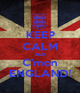 KEEP CALM AND C'mon ENGLAND! - Personalised Poster A1 size