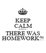 KEEP CALM AND C- THERE WAS HOMEWORK?! - Personalised Poster A1 size