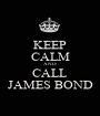 KEEP CALM AND CALL JAMES BOND - Personalised Poster A1 size
