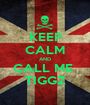 KEEP CALM AND CALL ME  TIGGZ - Personalised Poster A1 size