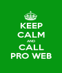 KEEP CALM AND CALL PRO WEB - Personalised Poster A1 size
