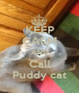 KEEP CALM AND Call Puddy cat - Personalised Poster A1 size