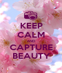 KEEP CALM AND CAPTURE BEAUTY - Personalised Poster A1 size