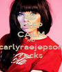 KEEP CALM AND carlyraejepson rocks - Personalised Poster A1 size