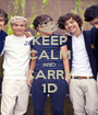 KEEP CALM AND CARRY 1D - Personalised Poster A1 size