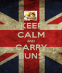 KEEP CALM AND CARRY BUNS - Personalised Poster A1 size