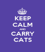KEEP CALM AND CARRY CATS - Personalised Poster A1 size