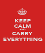 KEEP CALM AND CARRY EVERYTHING - Personalised Poster A1 size