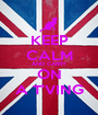 KEEP CALM AND CARRY ON A T'VING - Personalised Poster A1 size