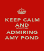 KEEP CALM AND CARRY ON ADMIRING AMY POND - Personalised Poster A1 size