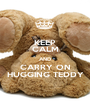 KEEP CALM AND CARRY ON HUGGING TEDDY - Personalised Poster A1 size