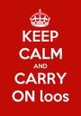 KEEP CALM AND CARRY ON loos - Personalised Poster A1 size