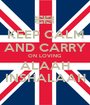 KEEP CALM AND CARRY ON LOVING ALAAH INSHALAAH - Personalised Poster A1 size