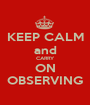 KEEP CALM and CARRY ON OBSERVING - Personalised Poster A1 size