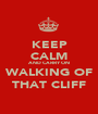 KEEP CALM AND CARRY ON WALKING OF THAT CLIFF - Personalised Poster A1 size