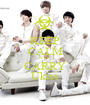 KEEP CALM AND CARRY Ukiss - Personalised Poster A1 size