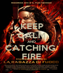 KEEP CALM AND CATCHING  FIRE - Personalised Poster A1 size