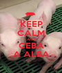 KEEP CALM AND CEBA A ALBA - Personalised Poster A1 size