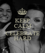 KEEP CALM AND CELEBRATE HARD - Personalised Poster A1 size