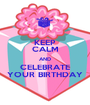 KEEP CALM AND CELEBRATE YOUR BIRTHDAY - Personalised Poster A1 size