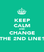 KEEP CALM AND CHANGE THE 2ND LINE? - Personalised Poster A1 size