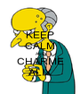 KEEP CALM AND CHARME ALIX - Personalised Poster A1 size