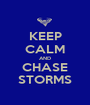 KEEP CALM AND CHASE STORMS - Personalised Poster A1 size