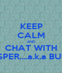 KEEP CALM AND CHAT WITH JASPER....a.k.a BUSET - Personalised Poster A1 size