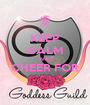 KEEP CALM AND CHEER FOR  - Personalised Poster A1 size