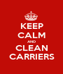 KEEP CALM AND CLEAN CARRIERS - Personalised Poster A1 size