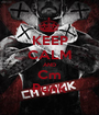 KEEP CALM AND Cm Punk - Personalised Poster A1 size